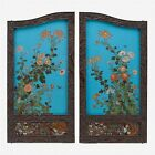 A pair of Japanese cloisonné screen panels, meiji / taisho period Lot 601