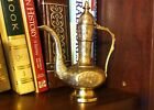 Vintage Brass Oil Flower Bud Pitcher Vase Made in India - Height 6 inches