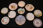 Lot of 11 Antique c.1910s Hand Painted Porcelain Wall Display or Cabinet Plates