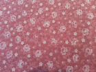 1 yd Pink Calico by Joan Kessler for Concord Tone on Tone Pink w/ White