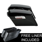 Hard Saddlebags Trunk With Lid & Latch Key For 94-2013 Harley Touring Road King