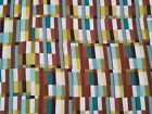 Metro Studio 8 BTY Quilting Treasures Dusty Teal White Gold Brown Geometric