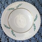 Coronation by Hanover China Single Coup Soup Bowl Green Gold Leaf 606