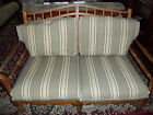 VINTAGE ETHAN ALLEN SETTEE LOVESEAT - SOLID WOOD FRAME - GREAT STRUCTURAL COND.
