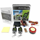 2 Way Motorcycle Alarm Security System w/ Remote Engine Starter LCD Remote Fobs