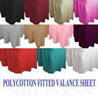 Top Quality Plain Dyed Polycotton Fitted Valance Sheets Pillowcases All Sizes