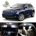 13 x Xenon White LED Interior Lights Package Kit For Jeep Cherokee 2014 2018
