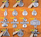 Charm Silver Pendant Sport 14s Style DIY Jewelry making For Bracelet Necklace
