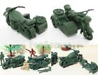 2 pcs Military Motorcycle Side Car Army Men Toy Soldier Accessories
