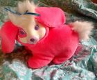 Vintage Hasbro BUNNY SURPRISE Hot Pink Fluffy Plush Rabbit Mom Toy *RARE*