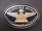 widows sons, 2-tone 24kt gold w/s logo, freemasons, masonic biker buckle