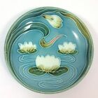 Antique German Art Nouveau Zell Majolica Water Lily Lotus Bowl, 1907-1928, Baden