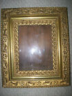 ANTIQUE AMERICAN VICTORIAN FRAME THREE FRAMES IN ONE GOLD LEAF & GESSO ORNATE