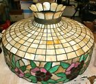 Antique Leaded Glass Hanging Shade