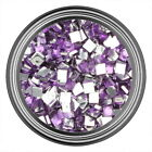 Light Purple Square Rhinestone Gem Flat Back Face Art Nail Art Jewels Decoration