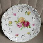 Antique Wood & Son England Royal Semi-Porcelain Floral Roses Plate C.B. Moller