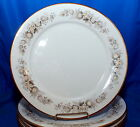 4pc Lot Noritake Ivory China Virginia Floral Gold Leaf Accent Dinner Plate Set
