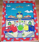 CHUGGINGTON TRAINS QUILT OR WALL HANGING FABRIC PANEL
