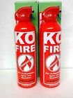 New KO FIRE Extinguisher for small fires Car Kitchen or Camp 15 OZ ((2 Pack))
