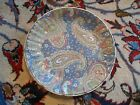 Large DYNASTY Blue Abstract BOWL, Handpainted, Heygill & HFP Macau, China, Mint!
