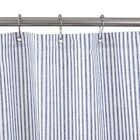 Blue Ticking Stripe - Shower Curtain  No Liner Needed - Made in USA
