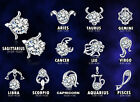1 Pair Chic Silver plated 12 Constellations Zodiac Sign Ear Studs Earrings