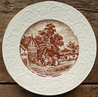 Large COALPORT Kings Ware PLATE Brown PASTORAL Charger Platter Porcelain England