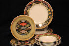 SASAKI PALAZZO DINNER PLATES BOWLS SALAD FINE FOOD CHINA DESIGN PAULA ZANGER KIT