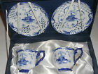 Delftware Ter Steege Twin Cup Saucer Set Giftbox NIBWT Royal Twickel, Windmill