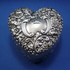 Antique Gorham Sterling Dresser Patch Box, Vanity Box Heart Shaped