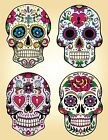 candy sugar skull day of the dead decal vinyl sticker color 4 designs 5 sizes