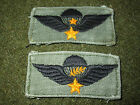 VIETNAM WAR ORIGINAL ARVN AIRBORNE PARATROOPER MASTER & SENIOR JUMP WINGS PATCH