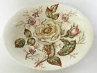 John Maddock & Sons 'Old Rose' Cream Green Pink Large Oval Vegetable Bowl HTF