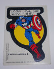 Vintage Captain America 2 Look, Ma, No Cavities Sticker Card 1975 Topps Marvel