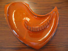 Vintage ROYAL HAEGER 162 USA Pottery Atomic Orange/Red Ashtray Mid Century RARE