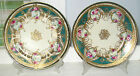 2(PAIR) ANTIQUE HANDPAINTED NIPPON 9 7/8