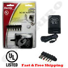 500mA Universal AC DC Adapter Jacks 12-9-7.5-6- 4.5-3VDC Power Cord Charger UL