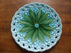 Antique German Schramberg Villeroy& Boch/SMF Majolica Lily of the Valley Plate