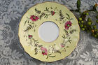 Vintage Grosvenor Bone China Saucer 'Vanity' Light Yellow Floral