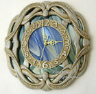 Wall clock original design stained glass carved oak fashion brand stylish decor