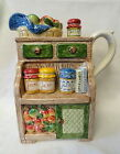Fitz & Floyd Omnibus PITCHER Country Cupboard Jams & Jellies, Apple Basket