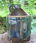 Antique Solid Brown Glaze Jug Western Primitive Whiskey Vintage