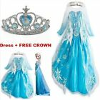 Kids Girls Dresses Elsa Frozen dress costume Princess Anna party dresses 2-8Y