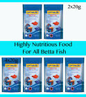 OPTIMUM 2x20g 4x20g Highly Nutritious Food For All Betta Fish Micro Pellet