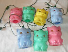 VINTAGE RETRO 7 Blow Mold CATS String Lights Lites RV Camping Party Patio