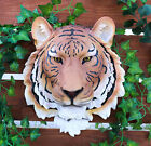 Exotica The Bengal Tiger Hanging Head Bust Wall Figurine Home Decor Plaque 16H