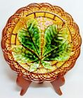 Antique Villeroy & Boch Schramberg Germany Majolica Basketweave Plate, 1800's 8