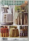 Simplicity 4096 Pattern – Table Covers and Toppers – Uncut Christopher Lowell