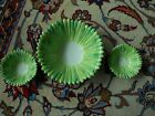 Robinson Clay Products Co. Green 'Leaf' Salad Bowl, 2 Small Serving Bowls, Rare