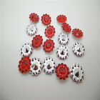 NEW 50PCS plastic crystal round sunflowers Scrapbooking craft / Wedding PR04